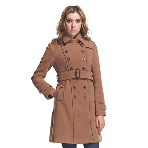 Zareen by BC24 Women's Wool Trench Long Coat with Belt Medium Camel by Zareen by BC24