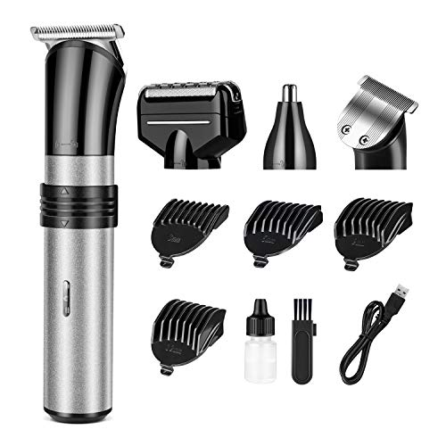 (Hair Clipper Electric Beard Shaver Nose Ear Hair Trimmer cutter For home use USB rechargeable Washable 3/6/9/12mm Adjust)