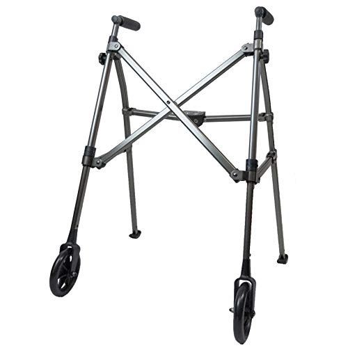 Best Price Able Life Space Saver Walker, Lightweight Folding 2 Wheeled Walker, Height Adjustable Por...