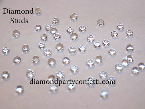 4mm Edible Diamond Studs Wedding Cake Sugar Decoration 65pcs 8 Color Choices(Clear)