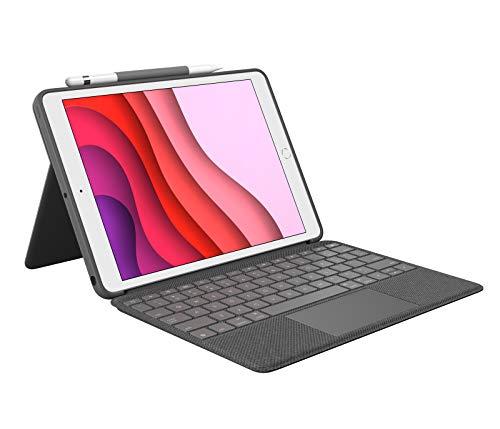 Logitech Combo Touch para iPad 7a generación, Disposición QWERTZ Alemán, Gris