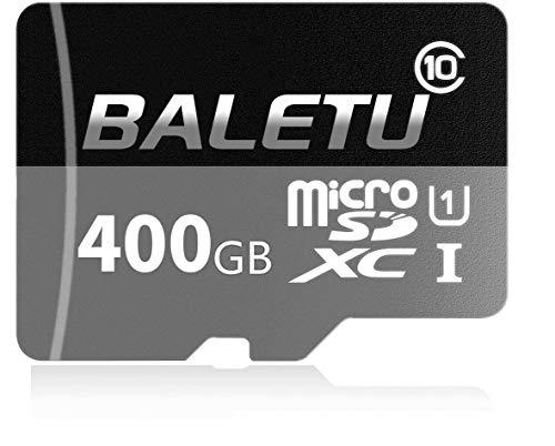 BALETU 400GB Micro SD Memory Card High Speed Class 10 Micro SD SDXC Card with SD Adapter