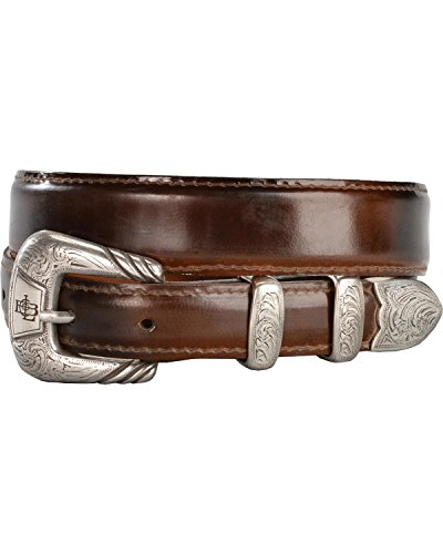 - Lucchese Men's Goat Leather Belt Tan 32