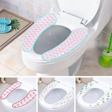 Bathroom Decor - 1 Pair Soft Pull Plush Bathroom Toilet Seat