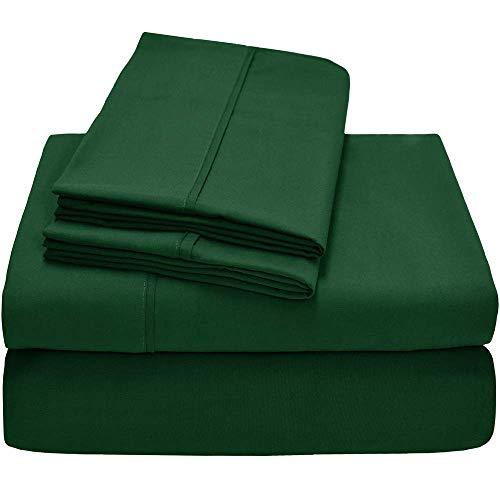 (Empire Home Essentials - Soft Durable Brushed Microfiber Sheet Set (Hunter Green, Queen)