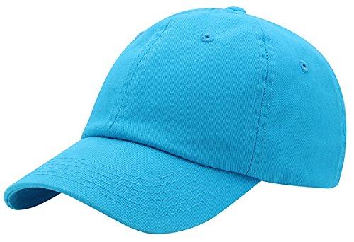 Top Level Baseball Cap for Men Women - Classic Cotton Dad Hat Plain Cap Low Profile, AQU Aqua ()