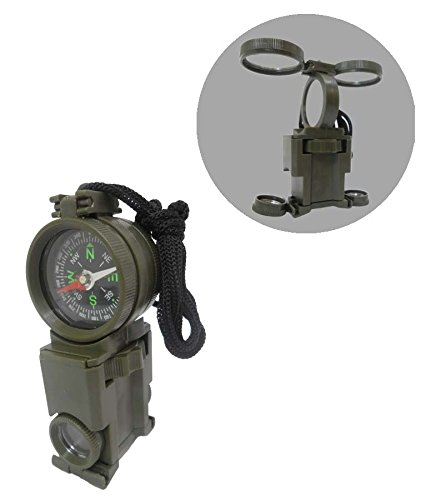 - Hawk MP205-PC Multi-Function Survival Tool with Compass, Mirror, and Binoculars