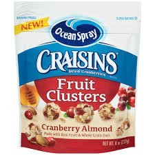 Craisins Dried Cranberries Fruit clusters Cranberry Almond Pack of 6 by Ocean Spray