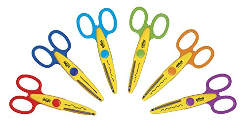 School Smart 85067 Paper Edger Scissors - Set of 6 - Assorted Colors by School Smart