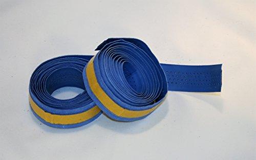 Bike Ribbon. Lenkerband. Handlebar Tape. 2 mt x 2. Echtes Leder / Vero CUOIO. Farbe Blau. MADE IN ITALY (NST_112_P_A)
