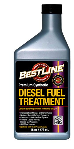 BestLine Superior Lubricants 853796001269 Premium Synthetic Diesel Fuel Treatment, 16 fl. oz. by BestLine Superior Lubricants