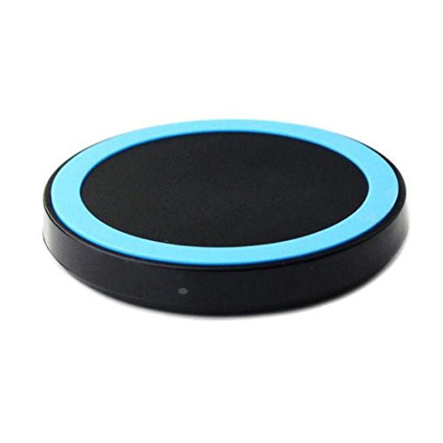 Esharing New Portable Qi Wireless Power Charger Charging Pad For Samsung Galaxy S9/S9 Plus,Perfect For Home Office and Travel (Blue)