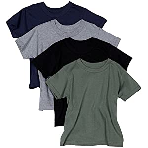 Hanes Men's ComfortSoft Tagless Dyed T-Shirts, Assorted Colors, Pack of 4 - X-Large