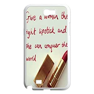 Custom Act like a lady, think like a boss Note2 Cover Case, Act like a lady, think like a boss Customized Phone Case for Samsung Galaxy Note2 N7100 at Lzzcase
