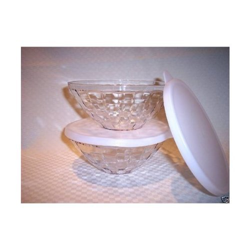 Tupperware Ice Prisms Small Serving Bowl Set (Tupperware Crystal)