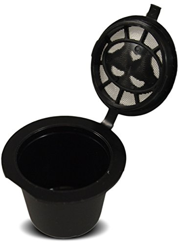 Reusable Nespresso-compatible filter cups, Refillable with your favorite coffee, and use over and over