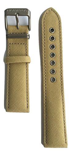 Authentic Hamilton Khaki Field Beige Canvas Band Strap for H69419933 or H69419363 by Hamilton