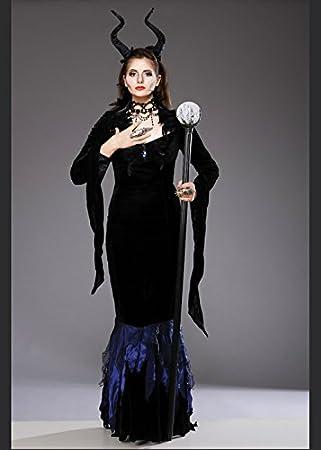 Para mujer Maléfica disfraz de estilo gótico Small (UK 8 - 10 ...