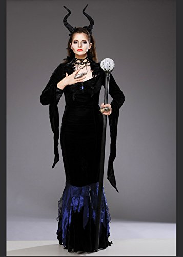Delights Damas Halloween Maleficent Estilo Traje de la Reina ...