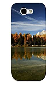 Chistmas' Gift - Cute Appearance Cover/tpu MQsCGZS1172xxBtP Clear Mountain Lake Reflecting The Trees Case For Galaxy Note 2