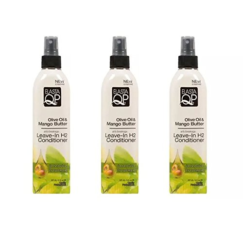 (PACK OF 3) ELASTA QP Leave-In H2 Conditioner Olive Oil & Mango Butter 8oz