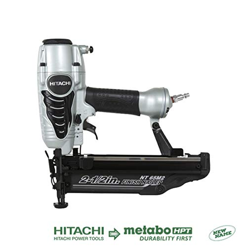 Hitachi NT65M2S 16-Gauge Finish Nailer with Integrated Air Duster, 2-1/2-Inch, Silver (Discontinued by the Manufacturer)