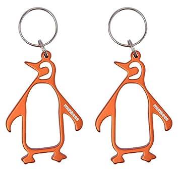 Munkees 2 x Llavero abrebotellas Pingüino, Naranja, Doble ...