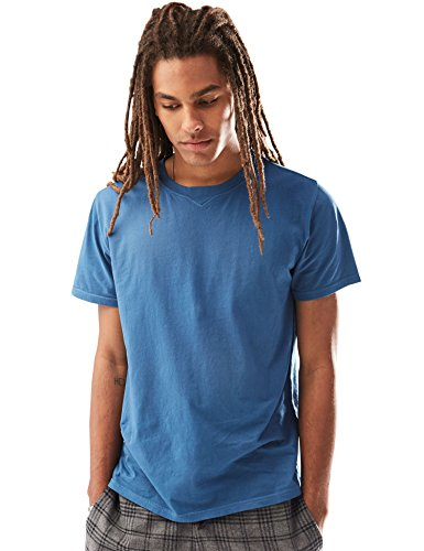 Rebel+Canyon+Men%27s+Short+Sleeve+Crewneck+Enzyme+Washed+Cotton+T-Shirt+Medium+Blue