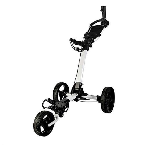 ゴルフトロリープッシュプルカートフット超コンパクト軽量クルーザーボタンイージーフォールドプッシュプル B07K264FZ7