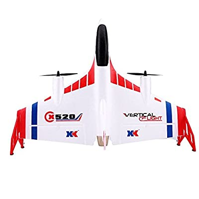 RC Airplane Model, 2.4GHz Remote Control Flying Aircraft for Beginner with Multi-Modes(Large Controller + US Charger)