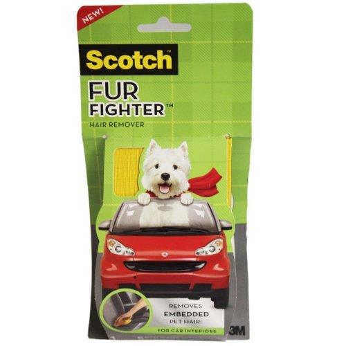 Scotch-Brite Fur Fighter Hair Remover 879SK-5SB, 1 Handle with 5 Refill Sheets