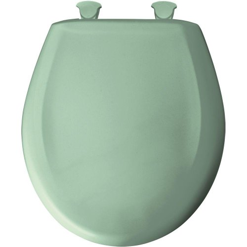 (Bemis 200SLOWT 035 Lift-Off Plastic Round Slow-Close Toilet Seat, Sea green)