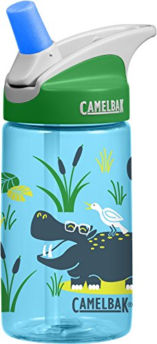 CamelBak Eddy Kids Water Bottle, Hip Hippos.4 L