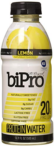 - BiPro Protein Water, Lemon, 16.9 Ounce (Pack of 12)