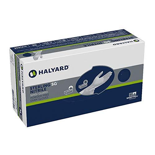 HALYARD STERLING SG Exam Gloves, Powder-Free, Sensi-Guard, 3.7 mil, Large, 41659 - Box of 250