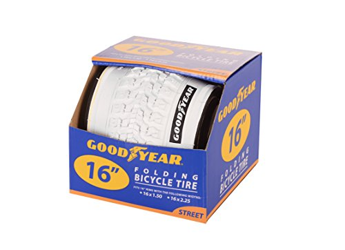 Goodyear Folding Bead Bicycle Tire, 16 x 1.5/2.25, White