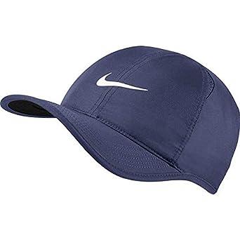 Nike Womens Featherlite Cap Thunder Blue Black Metallic Dark Grey at ... df4de6ae3c8