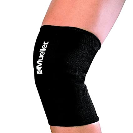 bfc94d54e8 Mueller Knee Support Elastic Slip-on Sleeve Support, Black - Small  12-14""