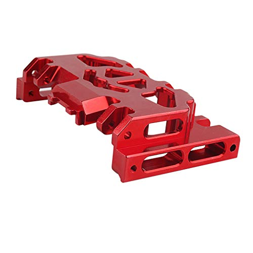 Fityle Aluminum Center Skid Plate for Traxxas TRX4 1/10 Rock Crawler Upgrade Parts - Red