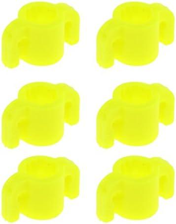 6本の矢の魚の探求の安全は8mmシャフトの屋外の射撃のために黄色に滑ります