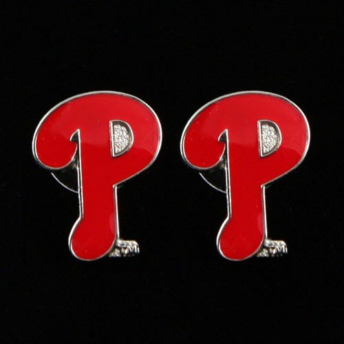 - MLB Philadelphia Phillies Team Logo Post Earrings