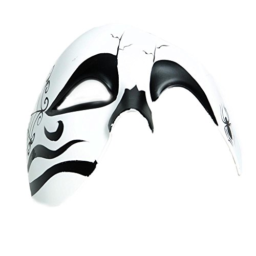 Day Of The Dead Adult Half Mask (Day of the Dead Phantom Half Mask)