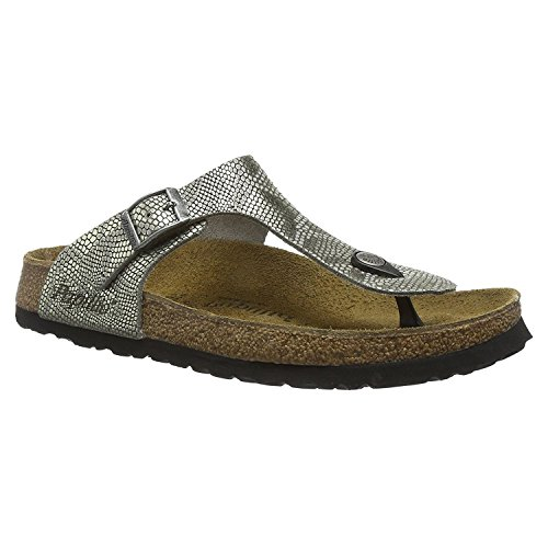 Papillio Womens by Birkenstock Gizeh Nubuck Sandals Royal Phython Gray
