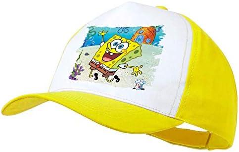MERCHANDMANIA Gorra Amarilla Bob Esponja Dibujo PIÑA MAR Color Cap ...