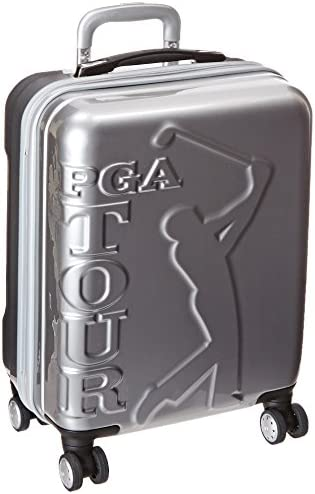 PGA Tour Hard Case Spinner Luggage 20 Inch Carry-On, Silver, One Size