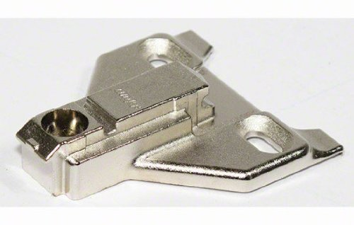Blum 175L6630.22 Nickel Cabinet Hinge Accessories CLIP Top Face Frame Adapter Plate With Off-Center Mounting and 3mm Clearance by Blum
