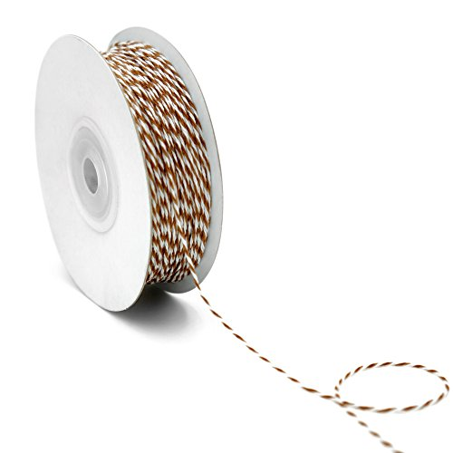 CT CRAFT LLC Bakers Twine 1mm x 100 Yard.Decorative Bakers Twine for DIY Crafts and Gift Wrapping -Brown (Llc Baker)