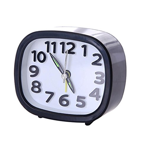 Jaylove Clearance Sale Cute Portable Rectangle Home Small Bed Travel Quartz Beep Alarm Clock Student Time Watch (Black)