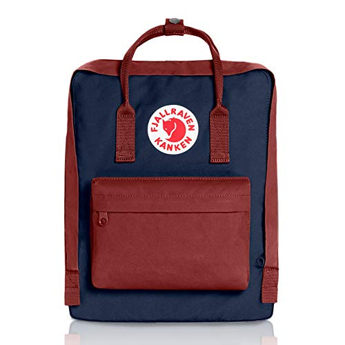 Fjallraven - Kanken Classic Pack, Heritage and Responsibility Since 1960, One Size,Royal Blue/Ox Red ()
