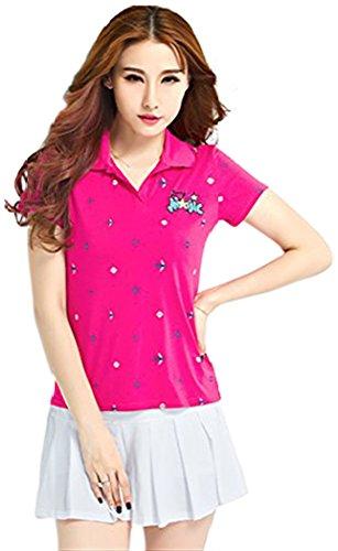 要求エンコミウム戦闘KEIMI(ケイミ) レディース  ゴルフウェア スポーツウェア  上下セット ポロシャツ スカート ボーダー柄 可愛い 綿素材